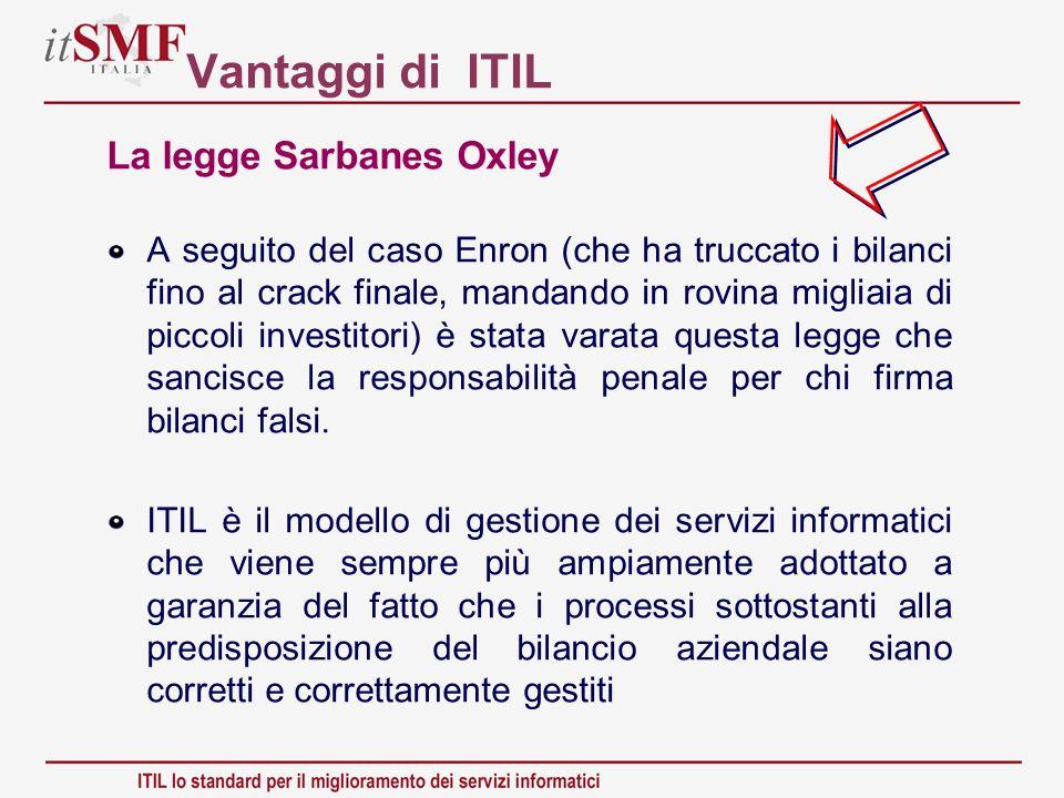 Vantaggi di ITIL La legge Sarbanes Oxley