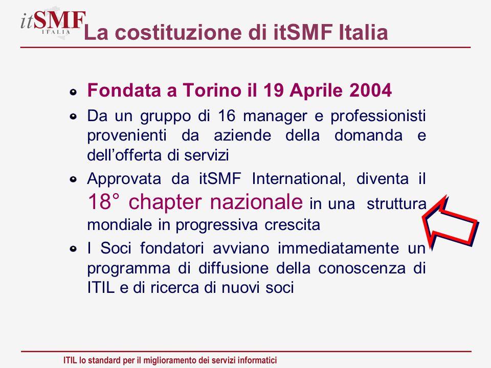 La costituzione di itSMF Italia
