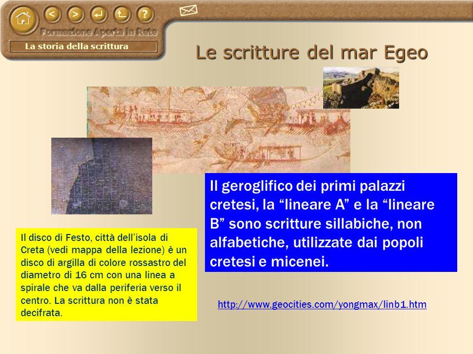 Le scritture del mar Egeo