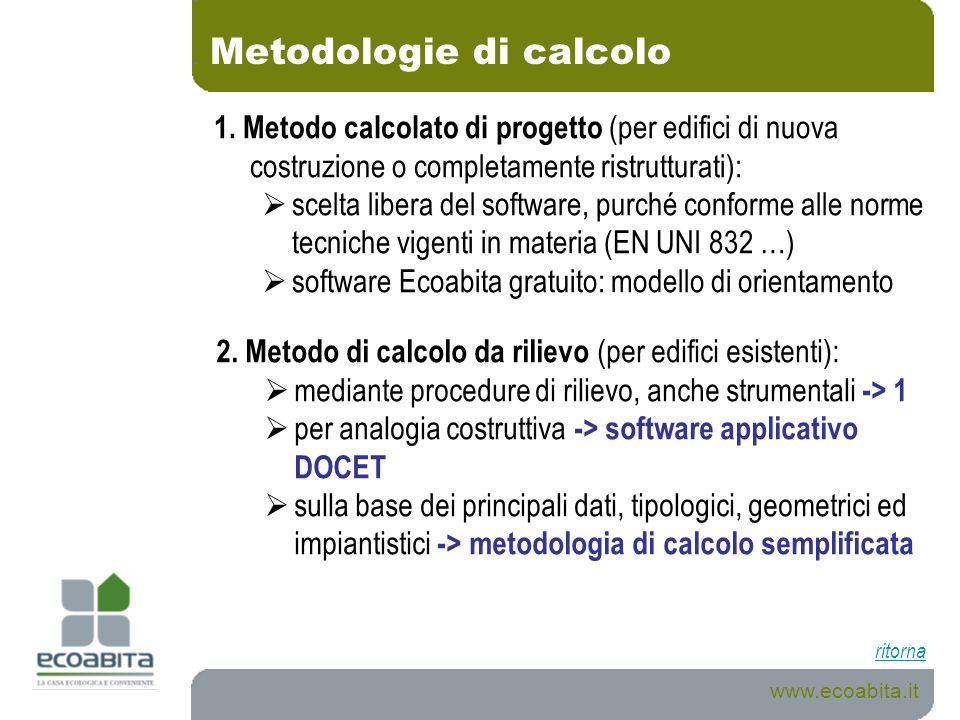 Metodologie di calcolo