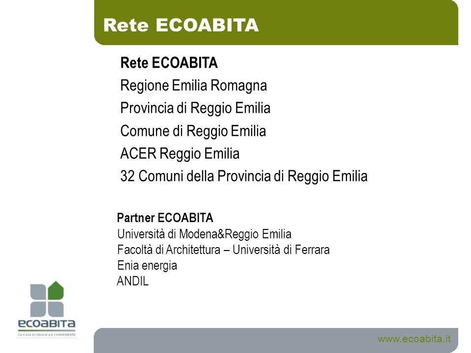 Rete ECOABITA Rete ECOABITA Regione Emilia Romagna
