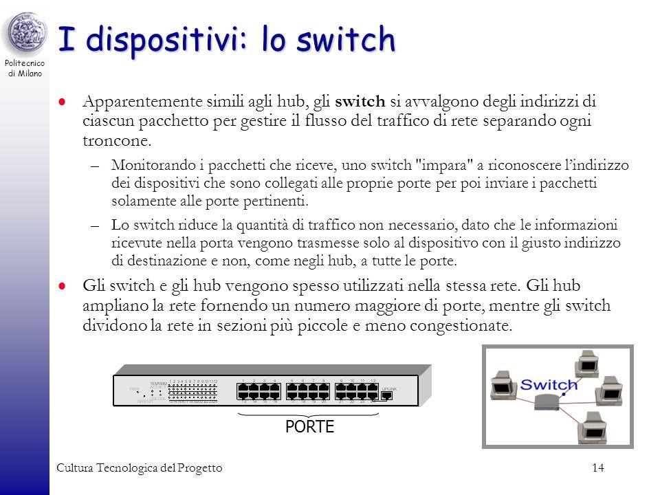 I dispositivi: lo switch