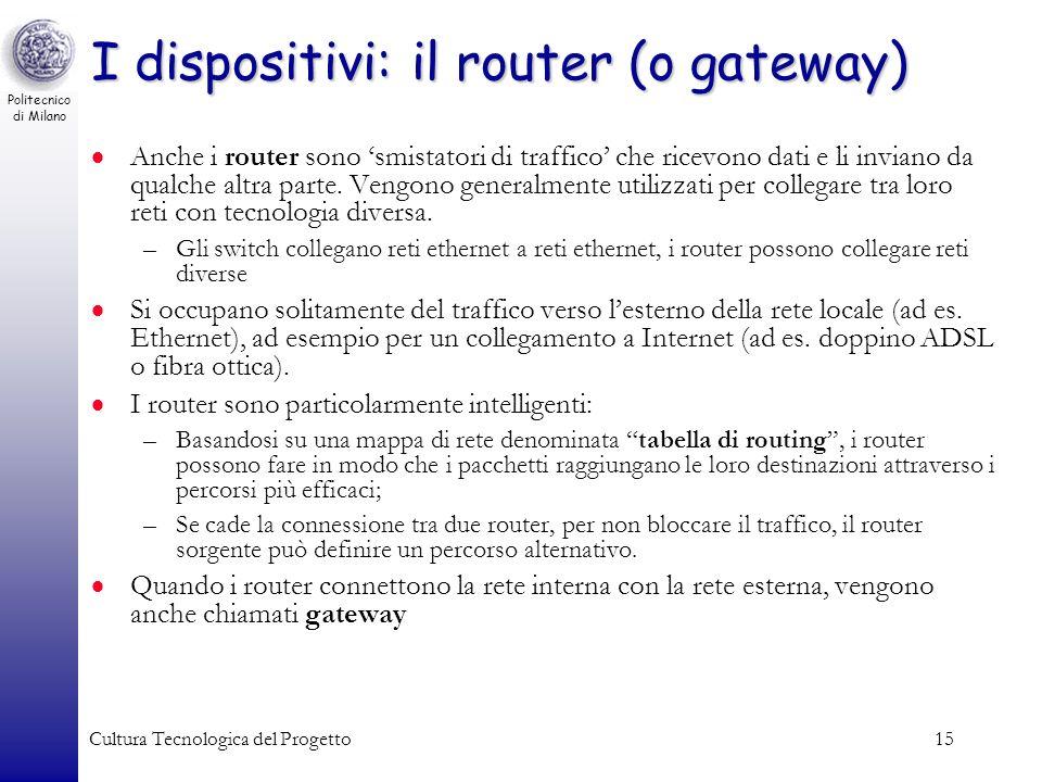 I dispositivi: il router (o gateway)
