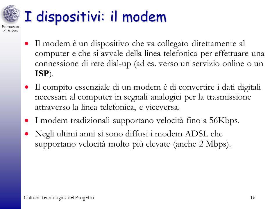 I dispositivi: il modem