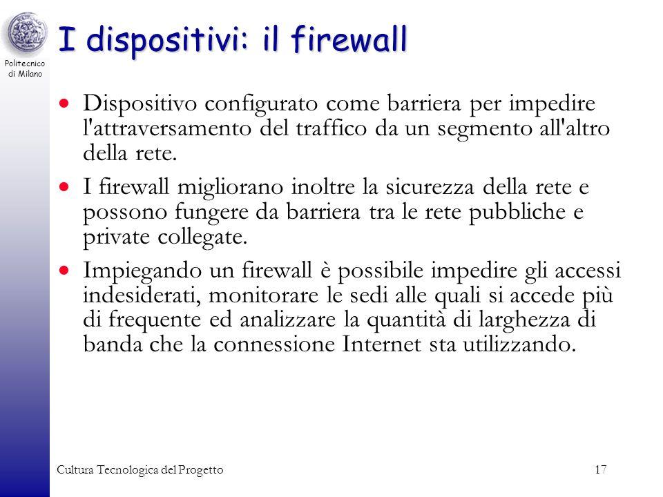 I dispositivi: il firewall