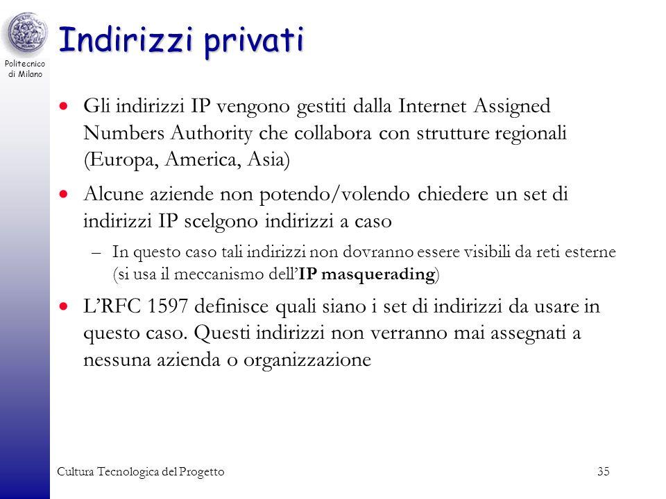 Indirizzi privati
