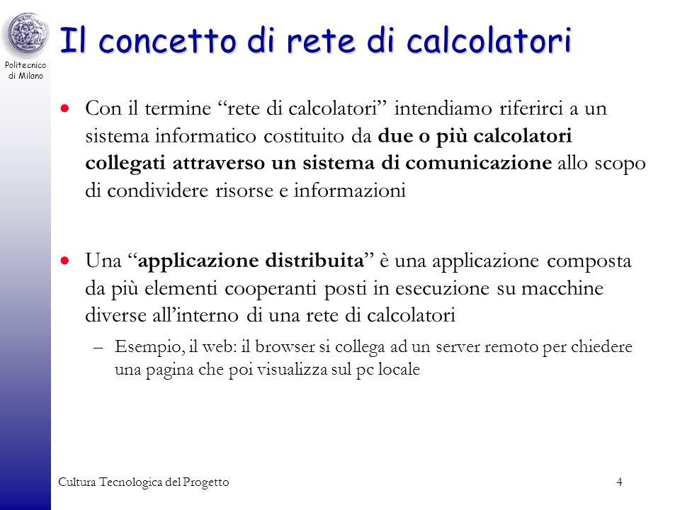 Il concetto di rete di calcolatori