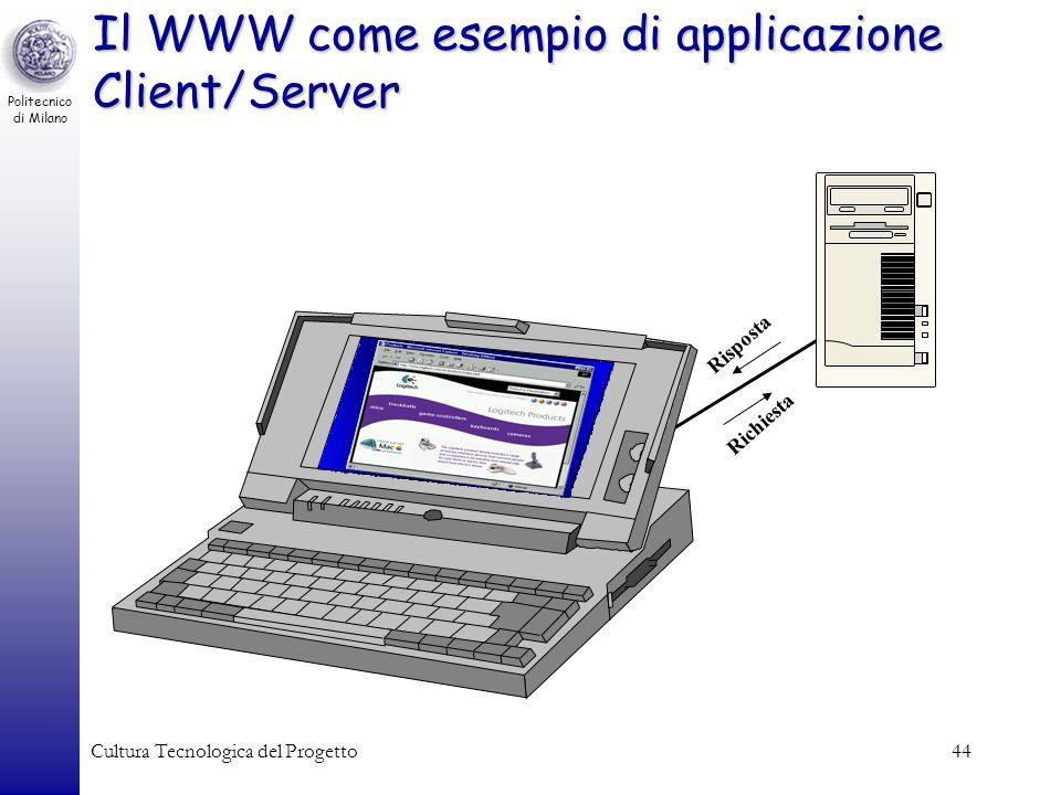 Il WWW come esempio di applicazione Client/Server