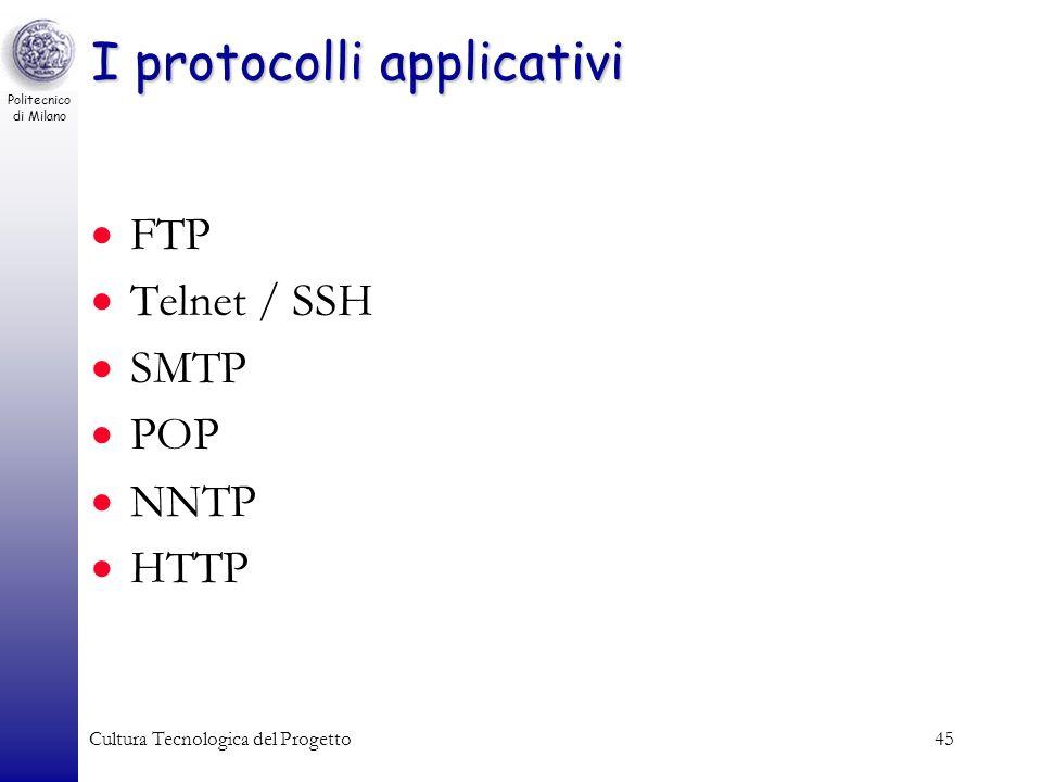 I protocolli applicativi