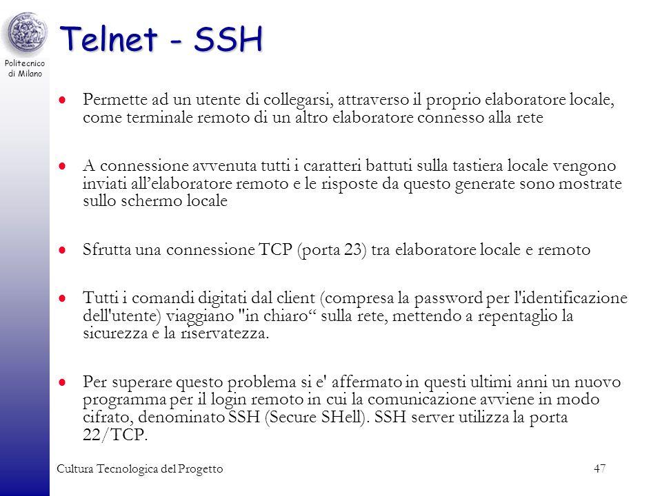 Telnet - SSH