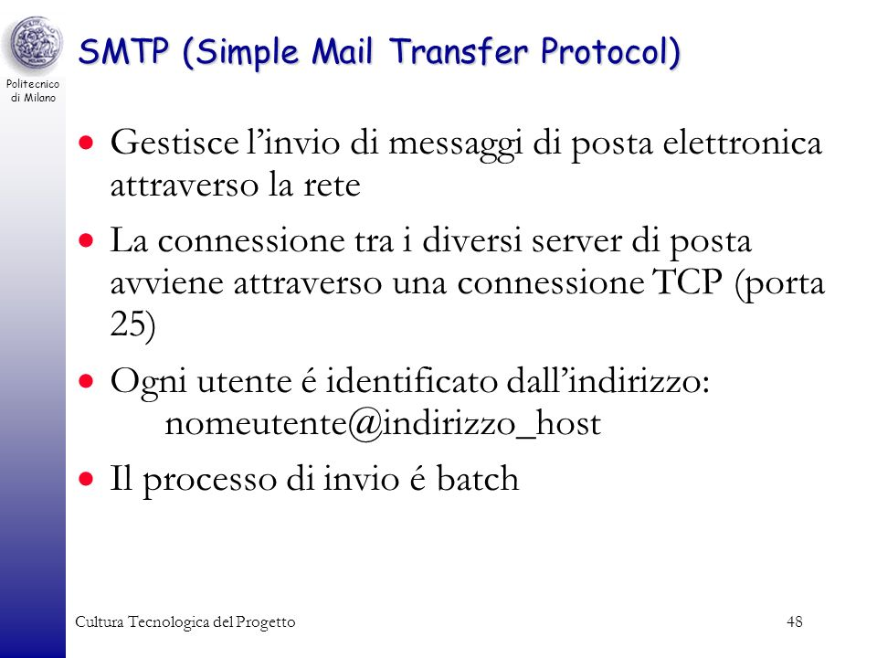 SMTP (Simple Mail Transfer Protocol)