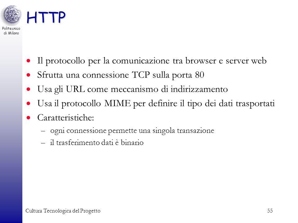 HTTP Il protocollo per la comunicazione tra browser e server web