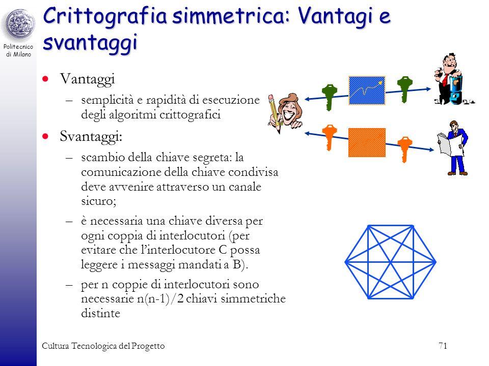 Crittografia simmetrica: Vantagi e svantaggi