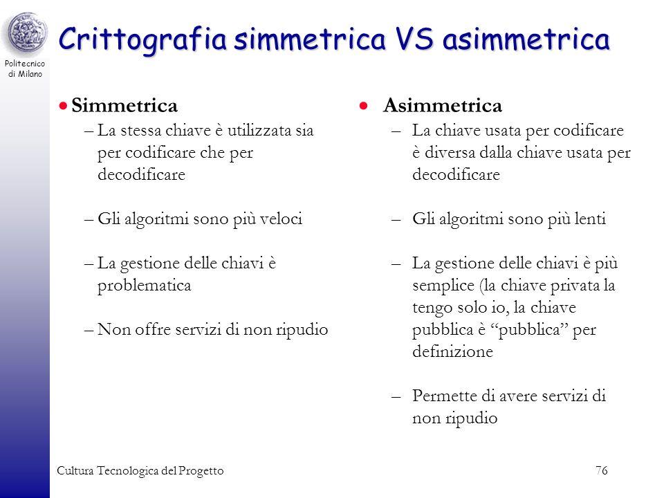 Crittografia simmetrica VS asimmetrica