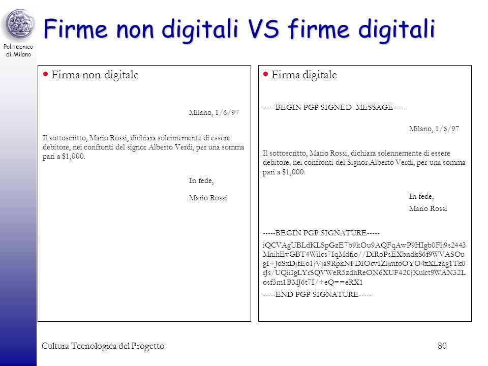 Firme non digitali VS firme digitali