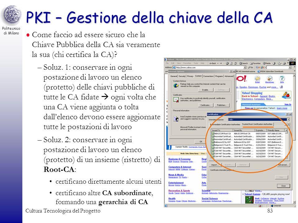 PKI – Gestione della chiave della CA