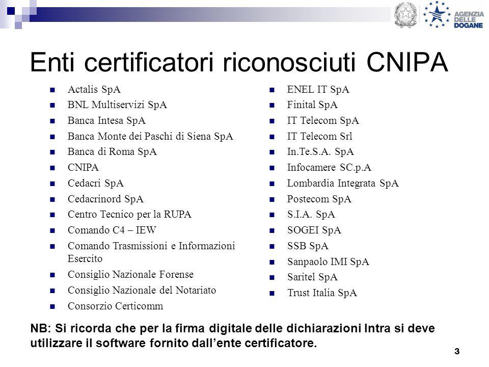 Enti certificatori riconosciuti CNIPA