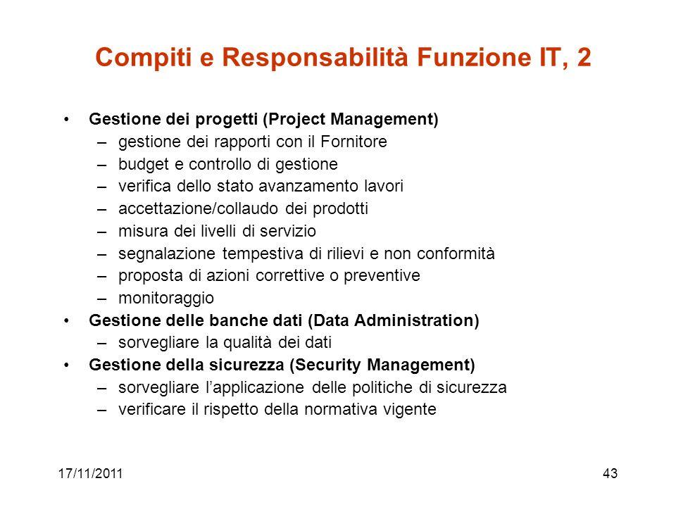 Compiti e Responsabilità Funzione IT, 2
