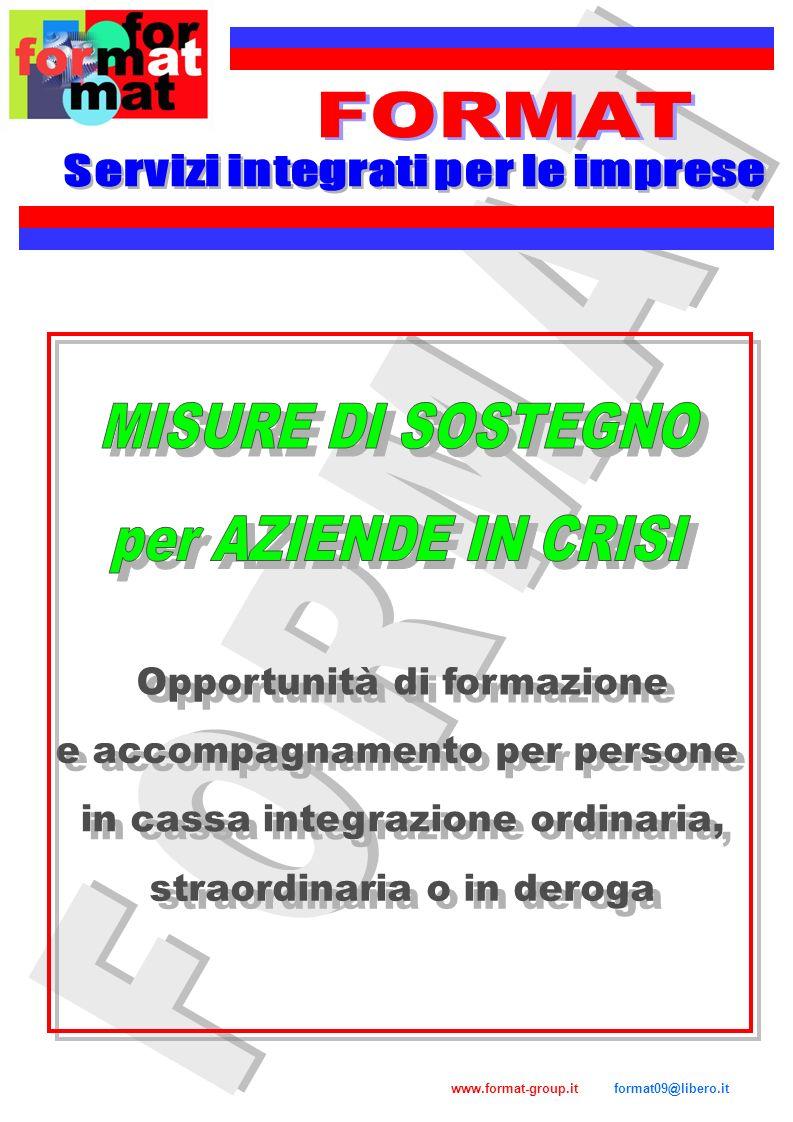 FORMAT MISURE DI SOSTEGNO per AZIENDE IN CRISI FORMAT