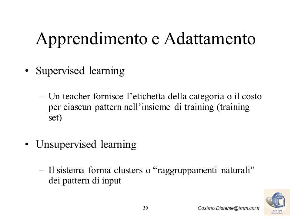 Apprendimento e Adattamento