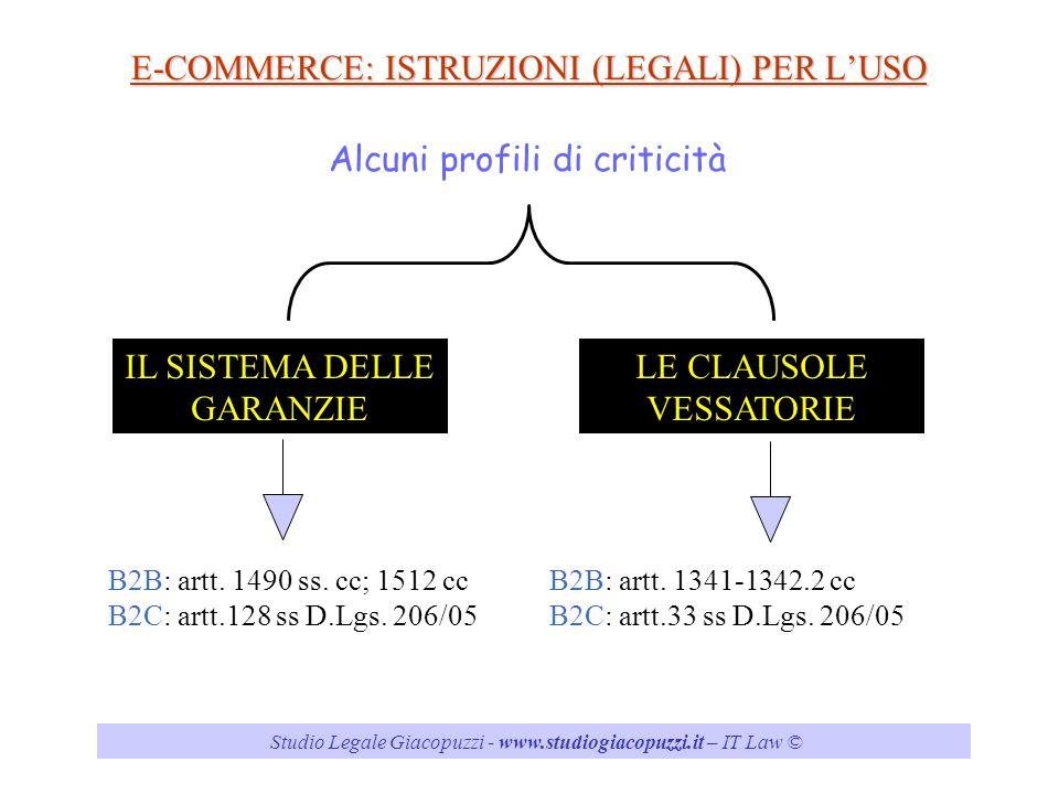E-COMMERCE: ISTRUZIONI (LEGALI) PER L'USO