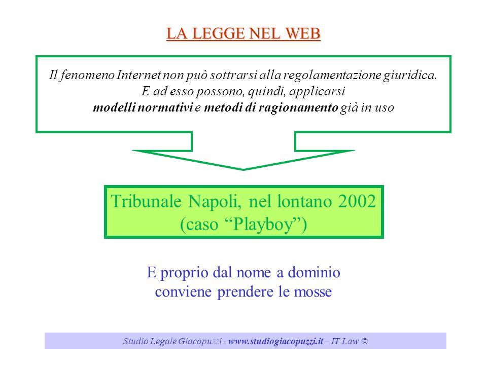 Tribunale Napoli, nel lontano 2002 (caso Playboy )