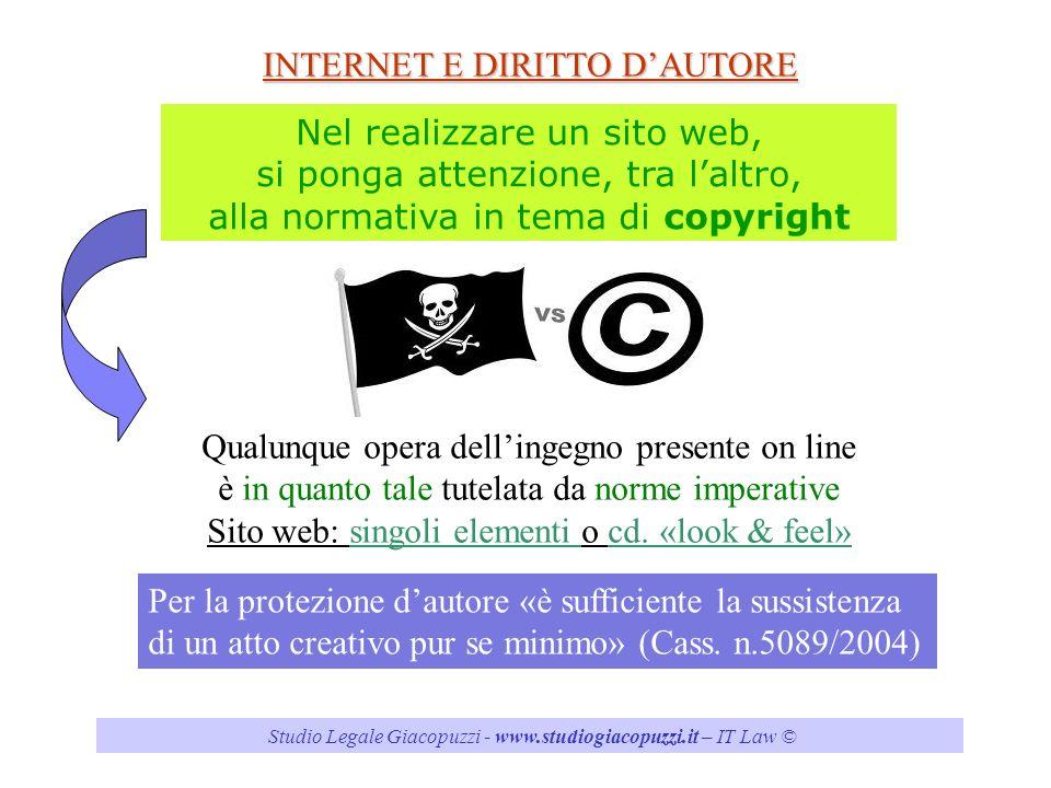 INTERNET E DIRITTO D'AUTORE