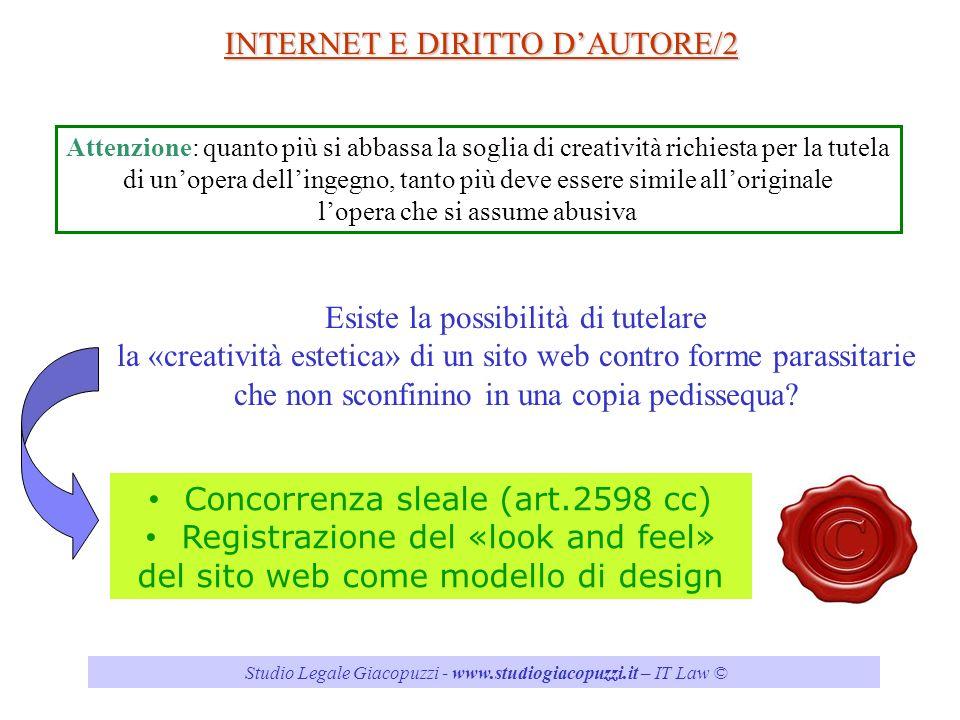INTERNET E DIRITTO D'AUTORE/2