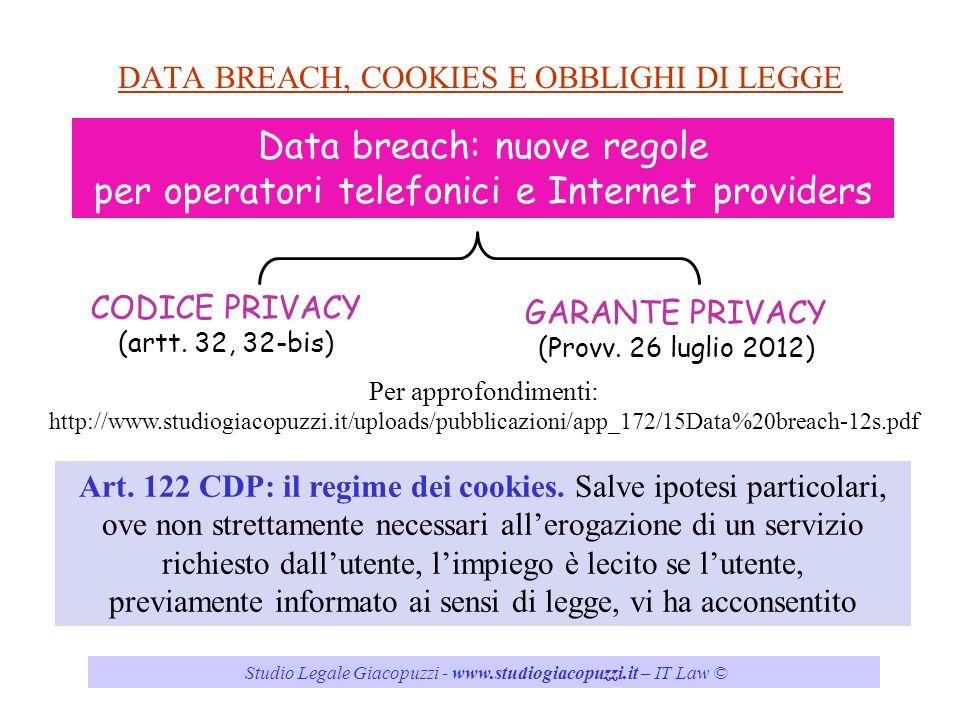 DATA BREACH, COOKIES E OBBLIGHI DI LEGGE