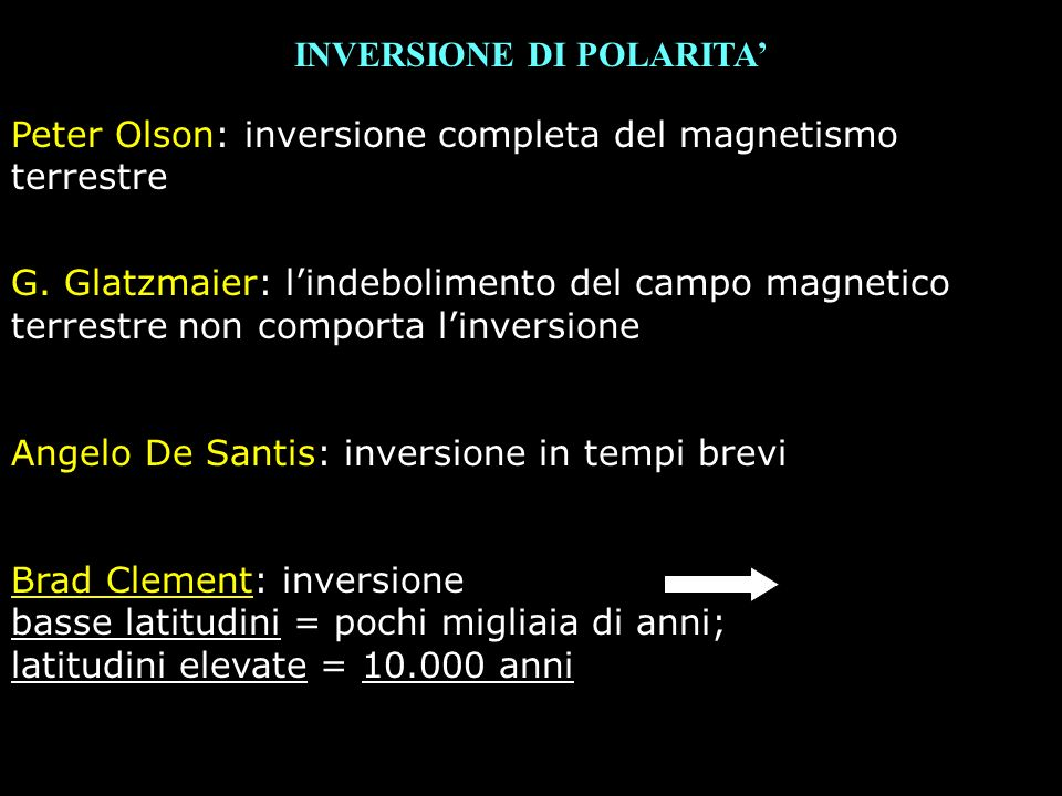 INVERSIONE DI POLARITA'