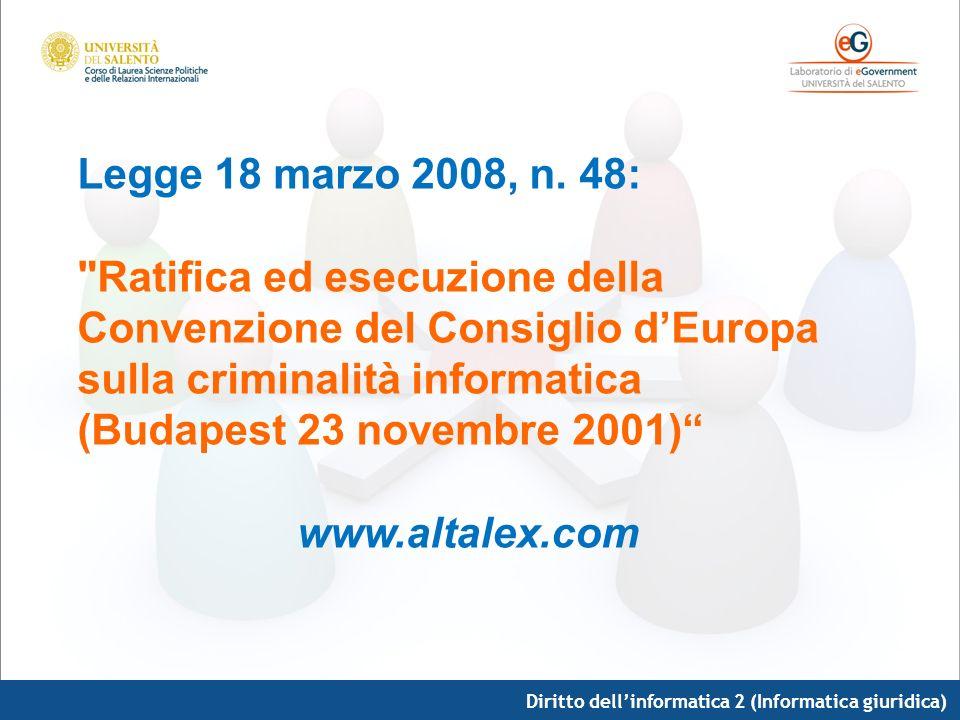 Legge 18 marzo 2008, n. 48: