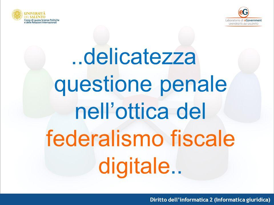 ..delicatezza questione penale nell'ottica del federalismo fiscale digitale..