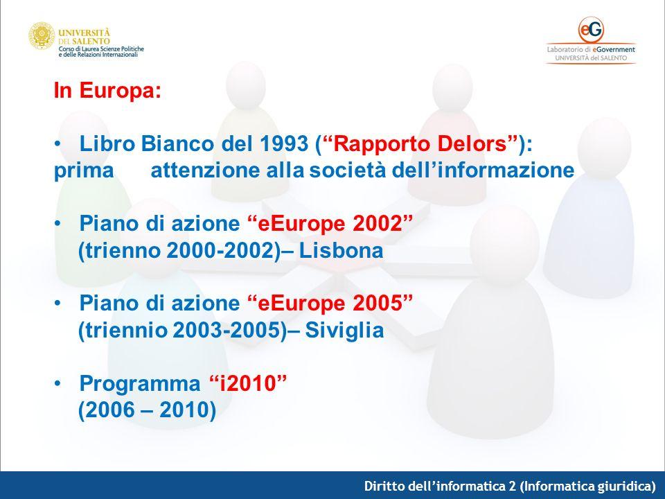 Piano di azione eEurope 2002 (trienno 2000-2002)– Lisbona