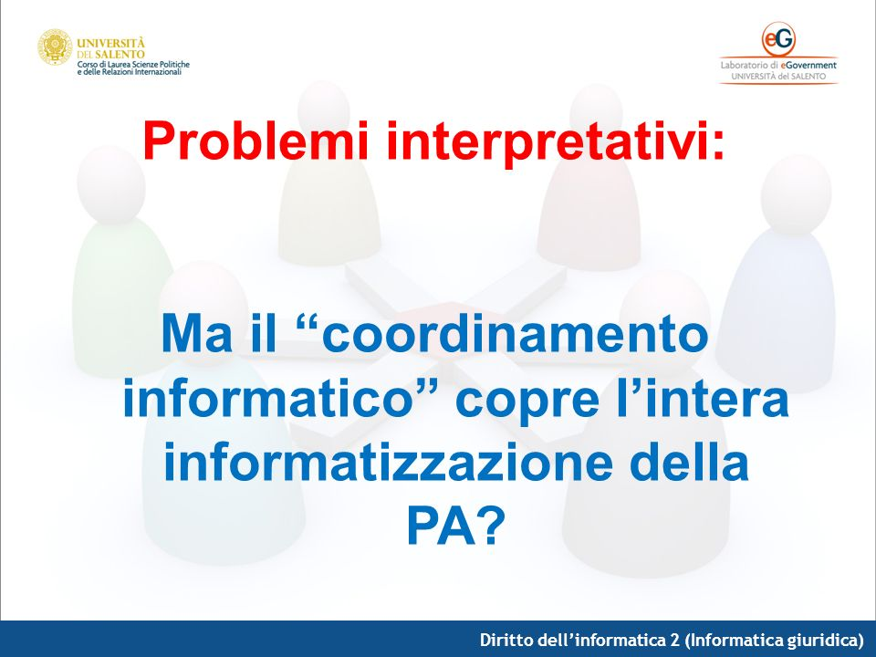 Problemi interpretativi: