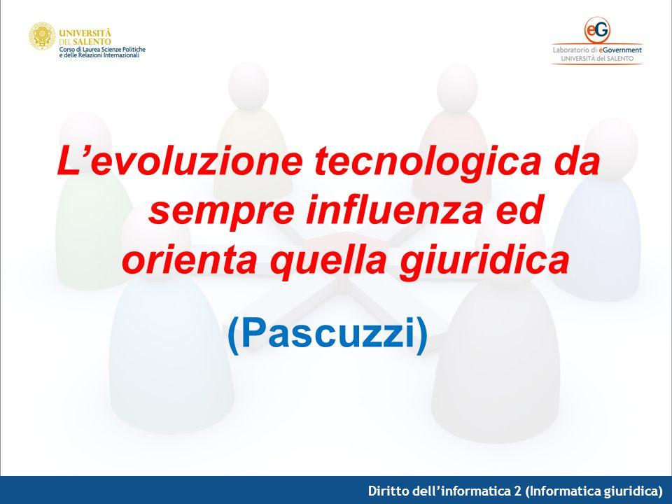 L'evoluzione tecnologica da sempre influenza ed orienta quella giuridica