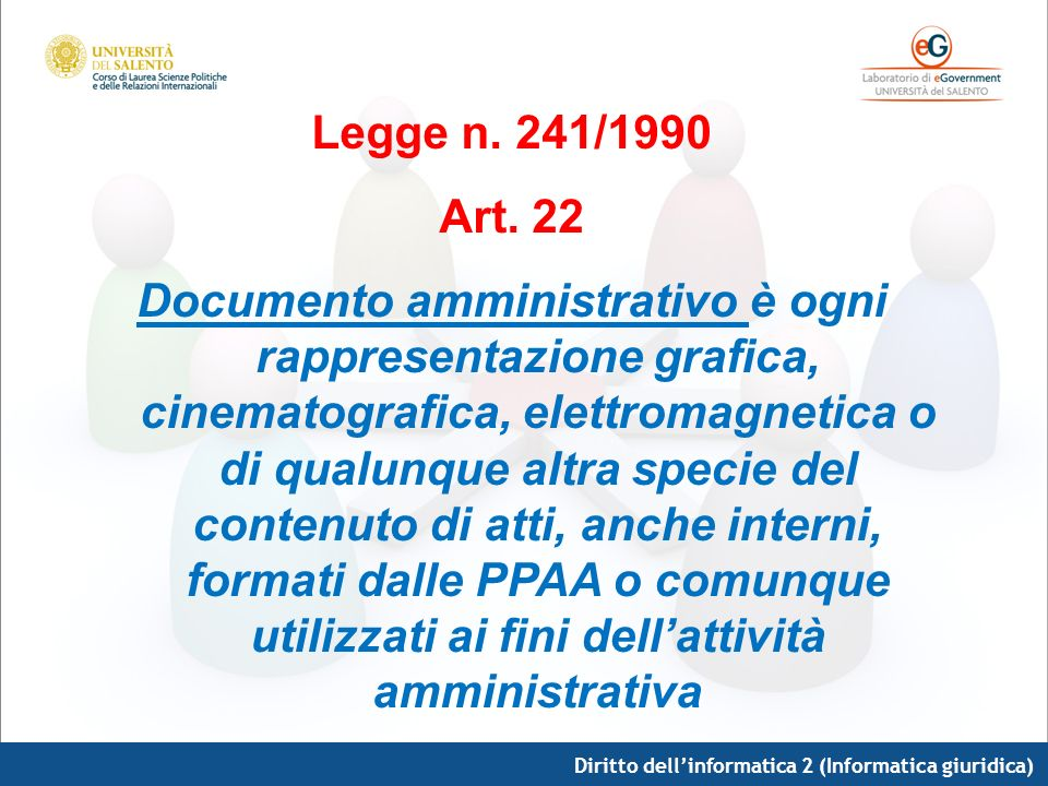 Legge n. 241/1990 Art. 22.