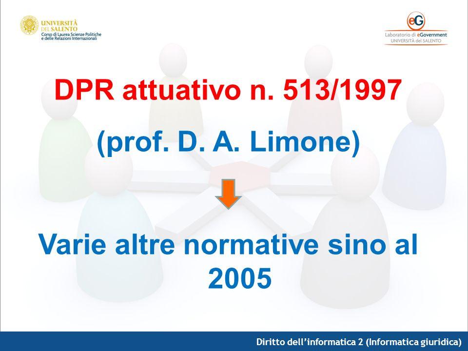 Varie altre normative sino al 2005