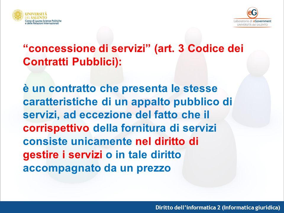 concessione di servizi (art. 3 Codice dei Contratti Pubblici):