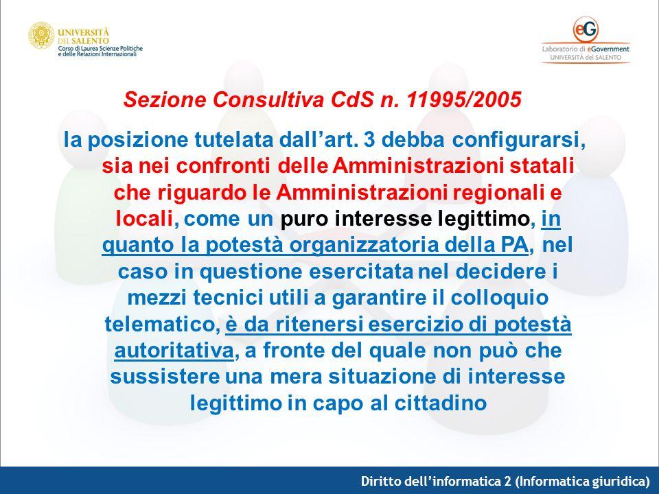 Sezione Consultiva CdS n. 11995/2005
