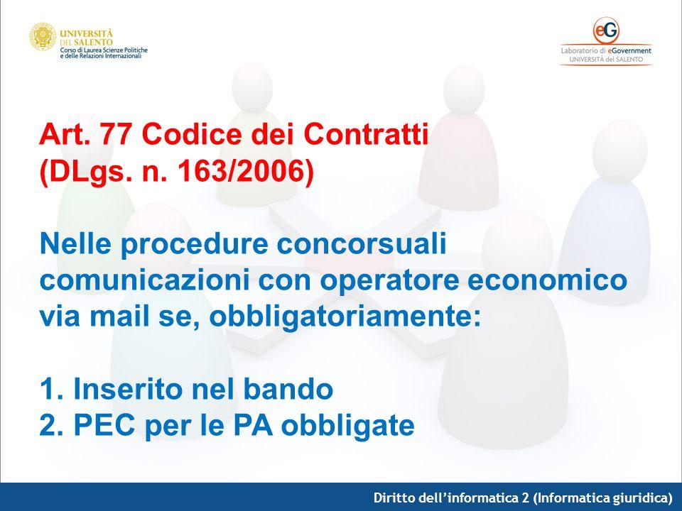 Art. 77 Codice dei Contratti (DLgs. n. 163/2006)