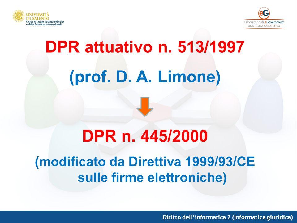 (modificato da Direttiva 1999/93/CE sulle firme elettroniche)