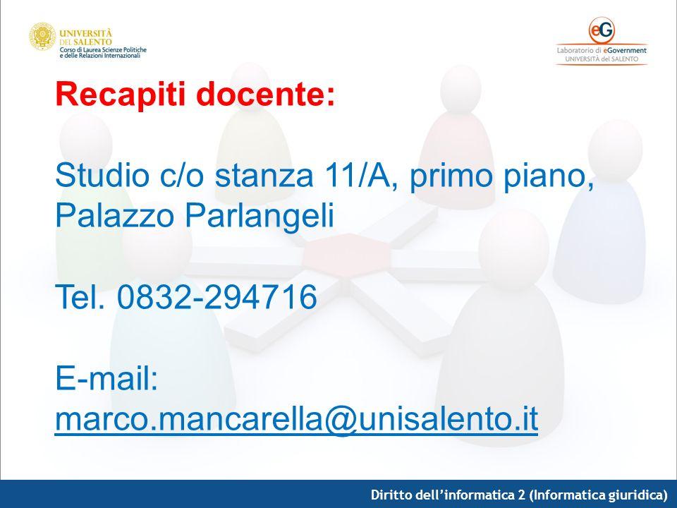 Studio c/o stanza 11/A, primo piano, Palazzo Parlangeli
