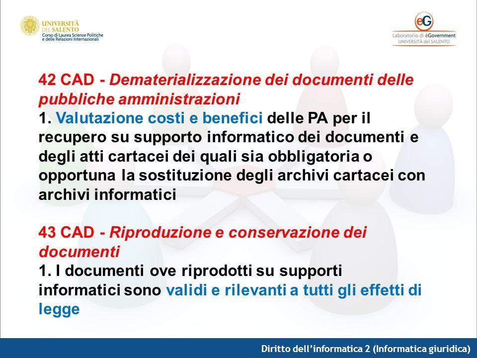 43 CAD - Riproduzione e conservazione dei documenti