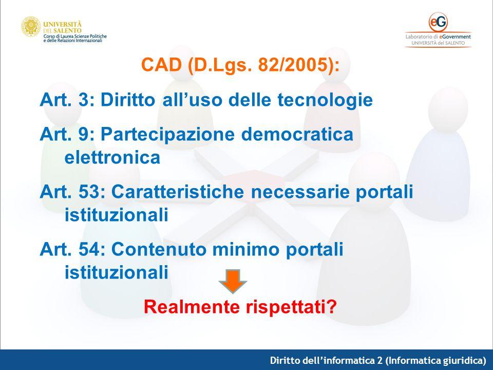 CAD (D.Lgs. 82/2005): Realmente rispettati