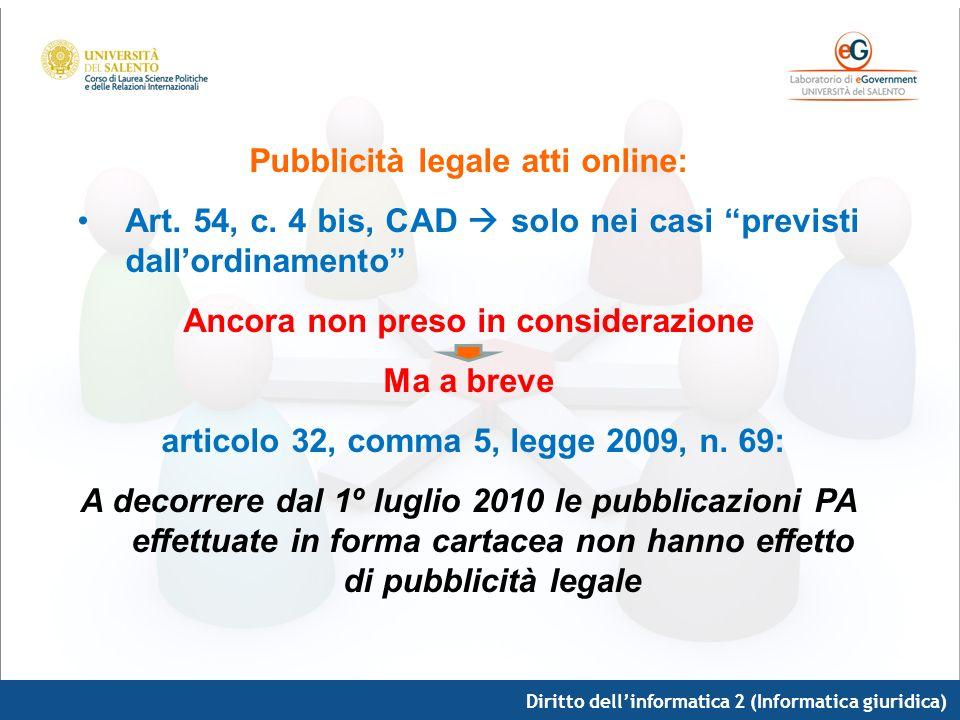 Pubblicità legale atti online: