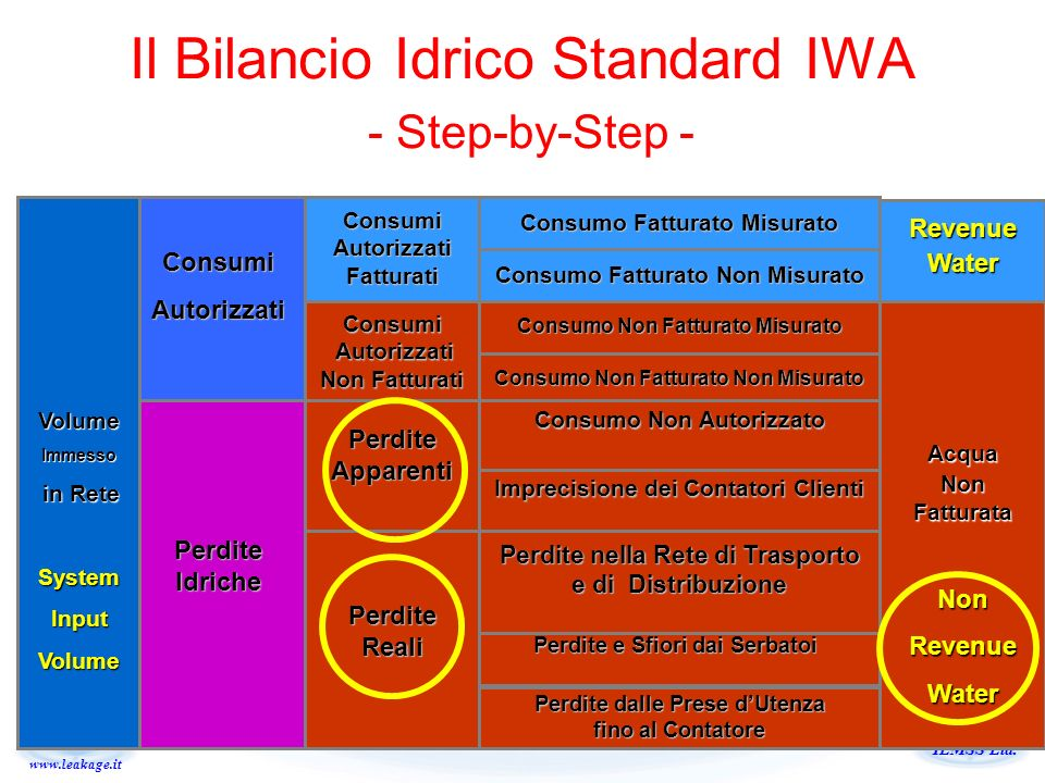 Il Bilancio Idrico Standard IWA - Step-by-Step -