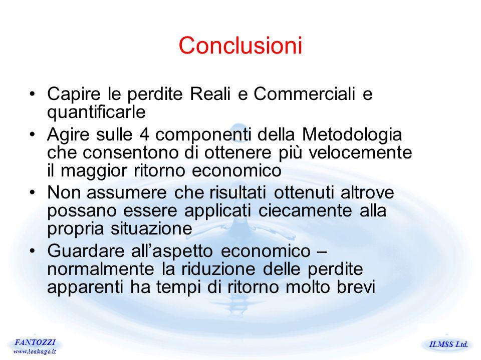 Conclusioni Capire le perdite Reali e Commerciali e quantificarle