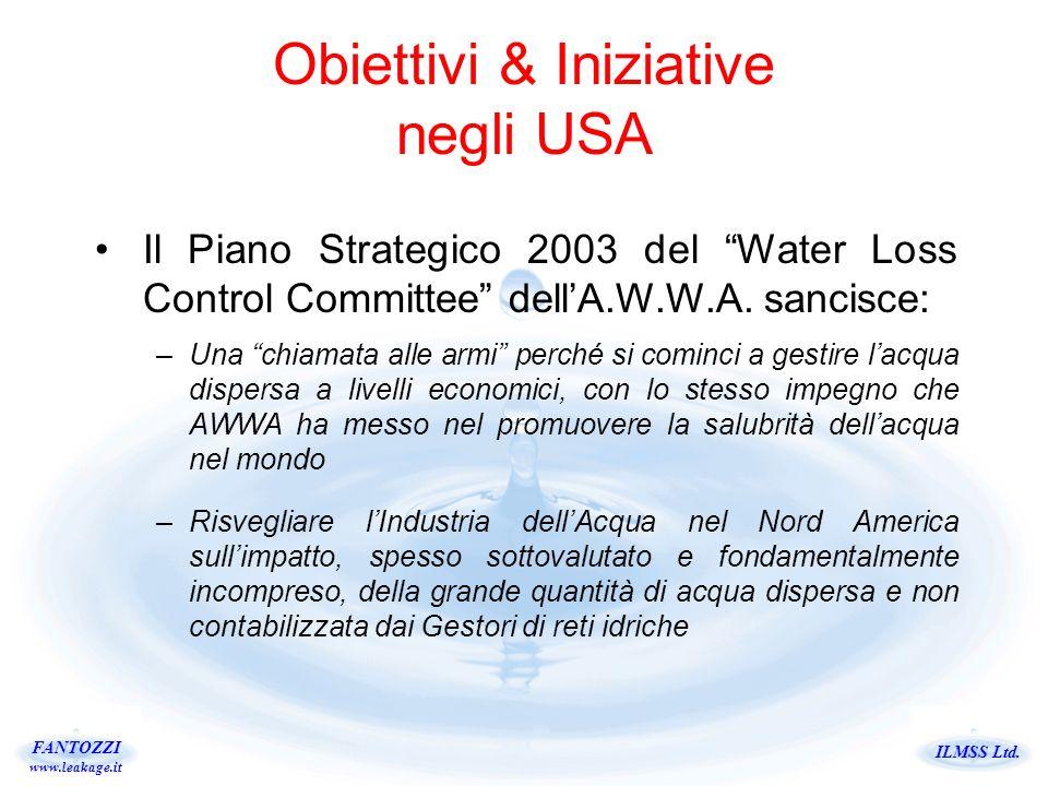 Obiettivi & Iniziative negli USA