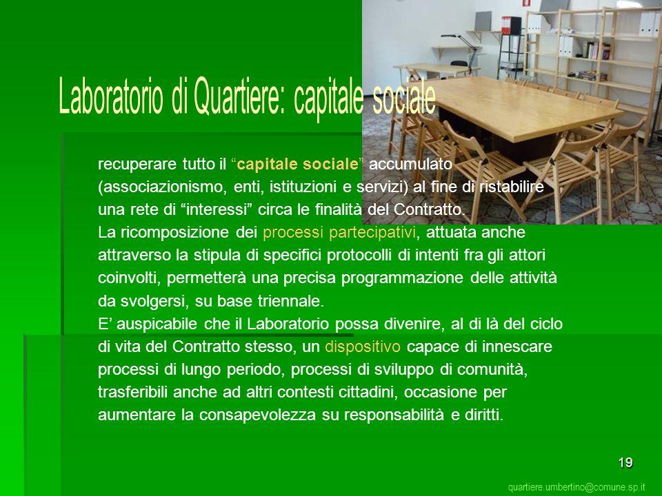 Laboratorio di Quartiere: capitale sociale
