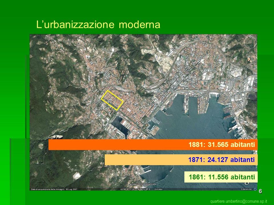 L'urbanizzazione moderna